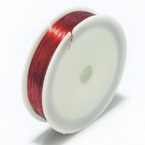 Florist wires, Burgandy, Length 40m, Diameter 0.5mm [approximate], Gauge 24, [TS184]